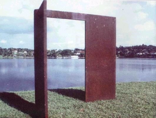 Escultura Chapa de Ferro, Amilcar de Castro, Museu de Arte da Pampulha, BHZ, MG | Amilcar de Castro