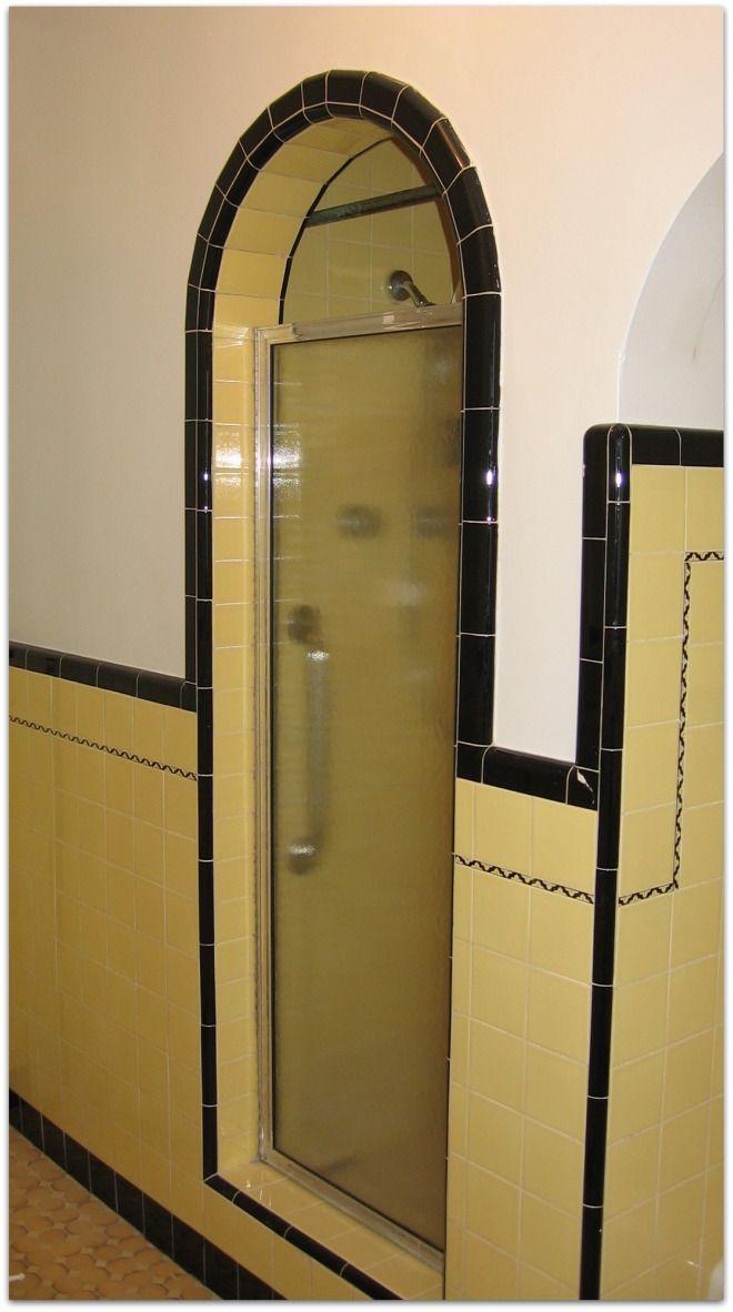 Japantown home's tiled Stall Shower (San Jose, CA)