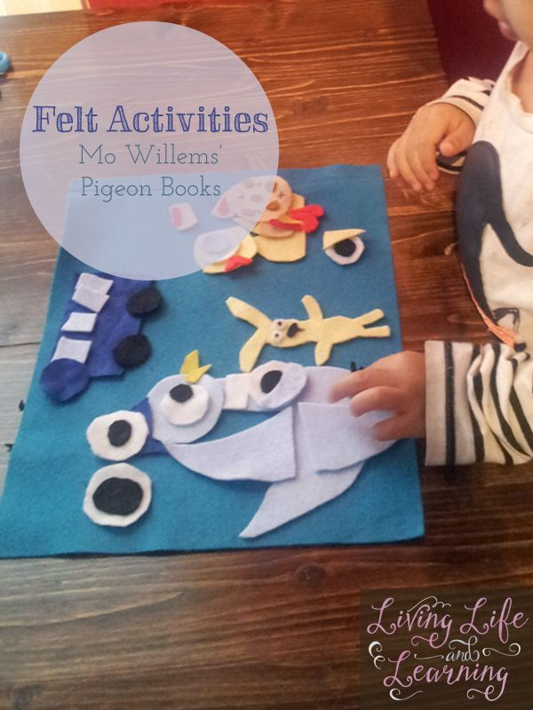 Awesome fun with felt board stories:  mo willems pigeon books