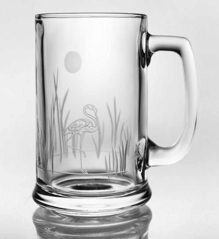 Tropic Flamingo Beer Mugs - Set of 4