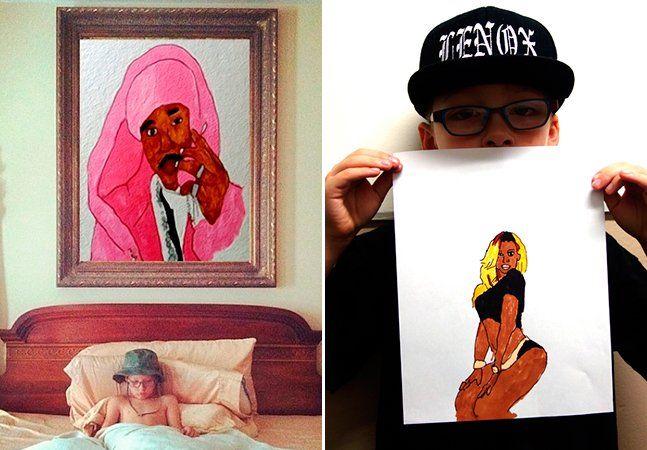 Yung Lenox tem apenas 7 anos, mas seus interesses andam bem longe dos de uma criança dessa idade: música e desenho são as artes que o movem. Então ele decidiu juntar as duas e começar a reproduzir capas de discos famosos na ponta da caneta. O resultado é tão bom que a sua conta de instagram (@yunglenox) tem ganhado seguidores de todo o mundo. R&B, rap e hip-hop são os estilos mais vistos nos desenhos de Lenox, que mostra já um estilo muito próprio na arte de desenhar - e também um ótimo…