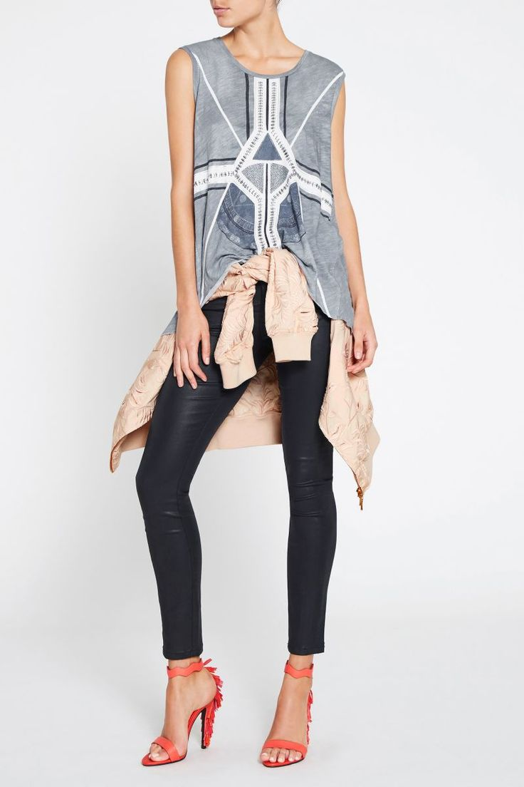 Sass and Bide - Kaleidoscopic Journey Embellished Print Tank