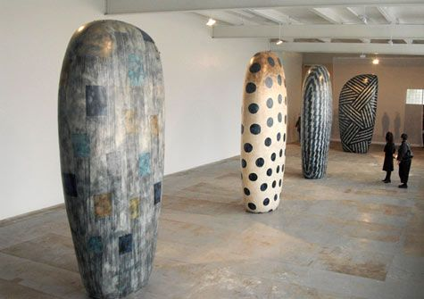 Jun Kaneko was born in Nagoya, Japan in 1942 and went to the USA in 1963. He began studying ceramic art at the Chouinard Institute of Art in California where his focus became drawn to sculptural ceramics. He expanded his studies  in contemporary ceramics with Peter Voulkos in Los Angeles and also Paul Soldner and Jerry Rothman. He has since pursued a dynamic and varied studio practice in painting, sculpture, ceramics and installations, and he's currently based at his third studio in Omaha…