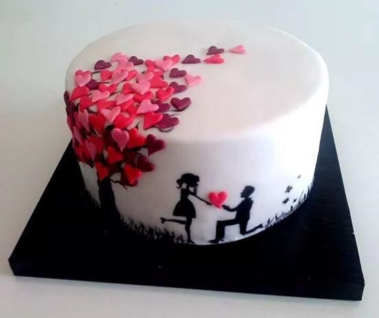 Cake Decorating Ideas For Ruby Wedding : 25+ best ideas about Anniversary cakes on Pinterest 50th ...