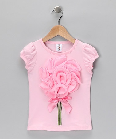 Take a look at this Light Pink Petal Bouquet Tee - Toddler & Girls by 2 Crystal Chicks on #zulily today!