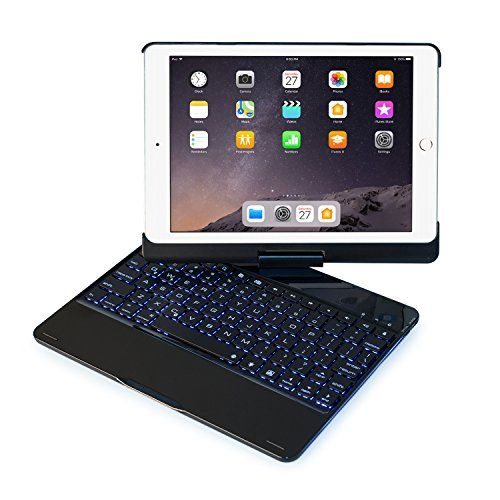 Keyboard Case Compatible With Ipad 2017 5th Gen 2018 New Ipad 6th Gen Air Air2 Ipad Pro 9 7 360 Rotating Back Cover Aluminum Bt Wireless Keyboard 7 Keyboard Case Ipad Keyboard