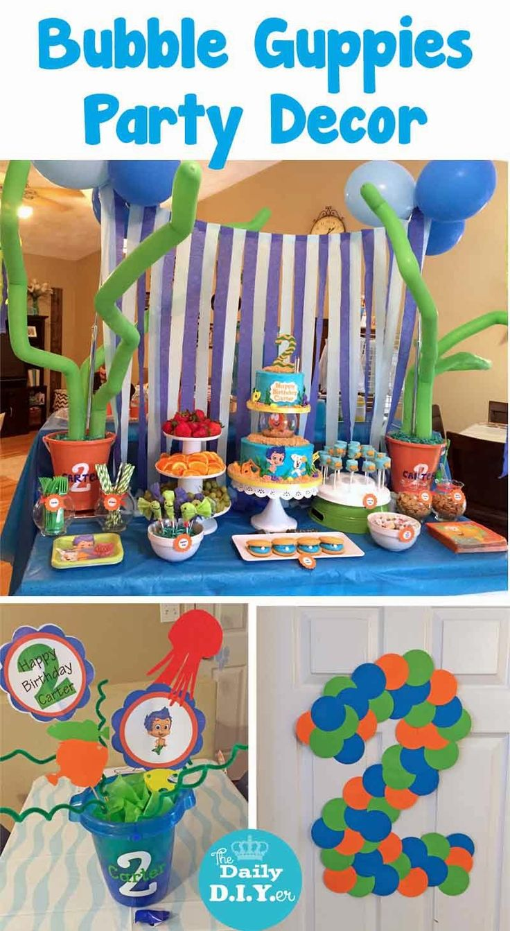 All the decoration details from our bubble guppies and under the sea themed birthday party the - Bubble guppies party favors ideas ...