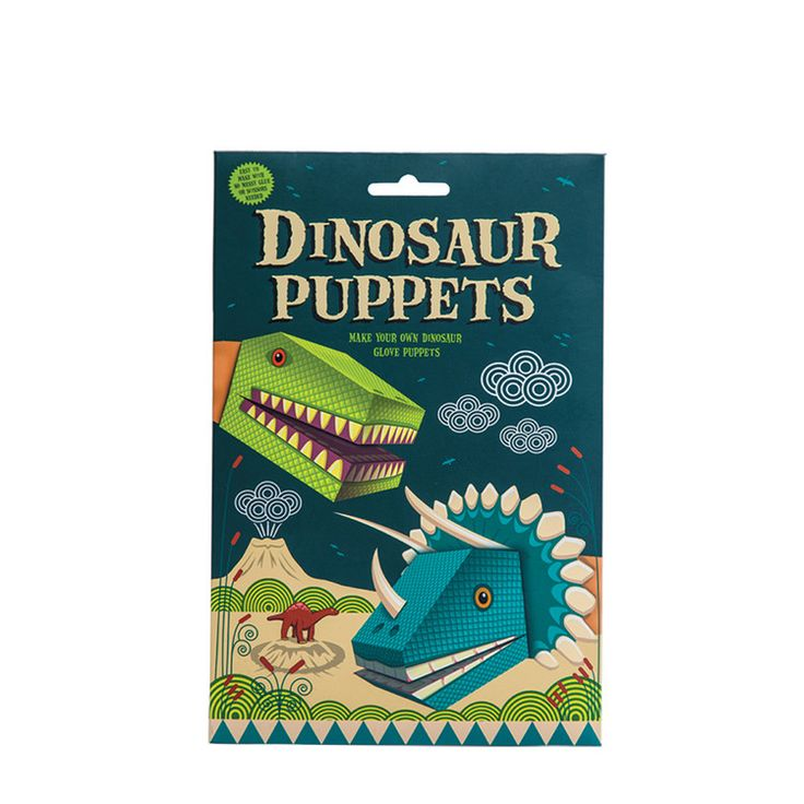 Clockwork Soldier Dinosaur Puppets Kit: Make your own dinosaur puppets. A create your own dinosaur puppet kit. Easy to create in upto six easy steps, with no glue or scissors needed. You'll never be without a dinosaur buddy if you make and fold your very own dinosaur friends.Terry and Tyrone are two easy to make, beautifully designed characters that can be put together in no more than six easy steps. Simple to make with no scissors or glue required. Each kit contains two easy to make…