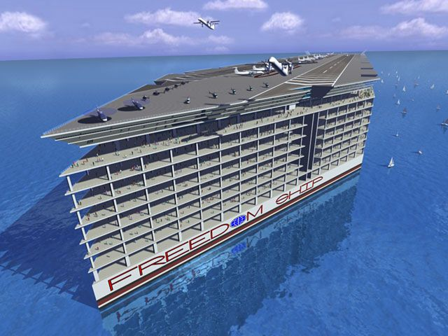 There's A $10 Billion Plan To House 40,000 People On A Huge Boat