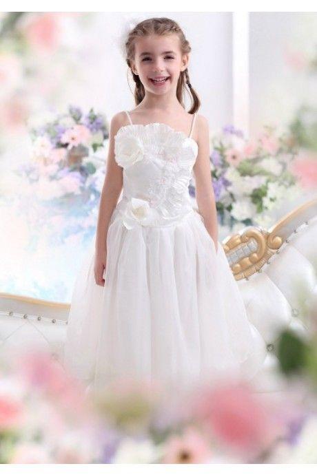 ストラップ フロアー丈  結婚式 子供 ドレス Falz0020