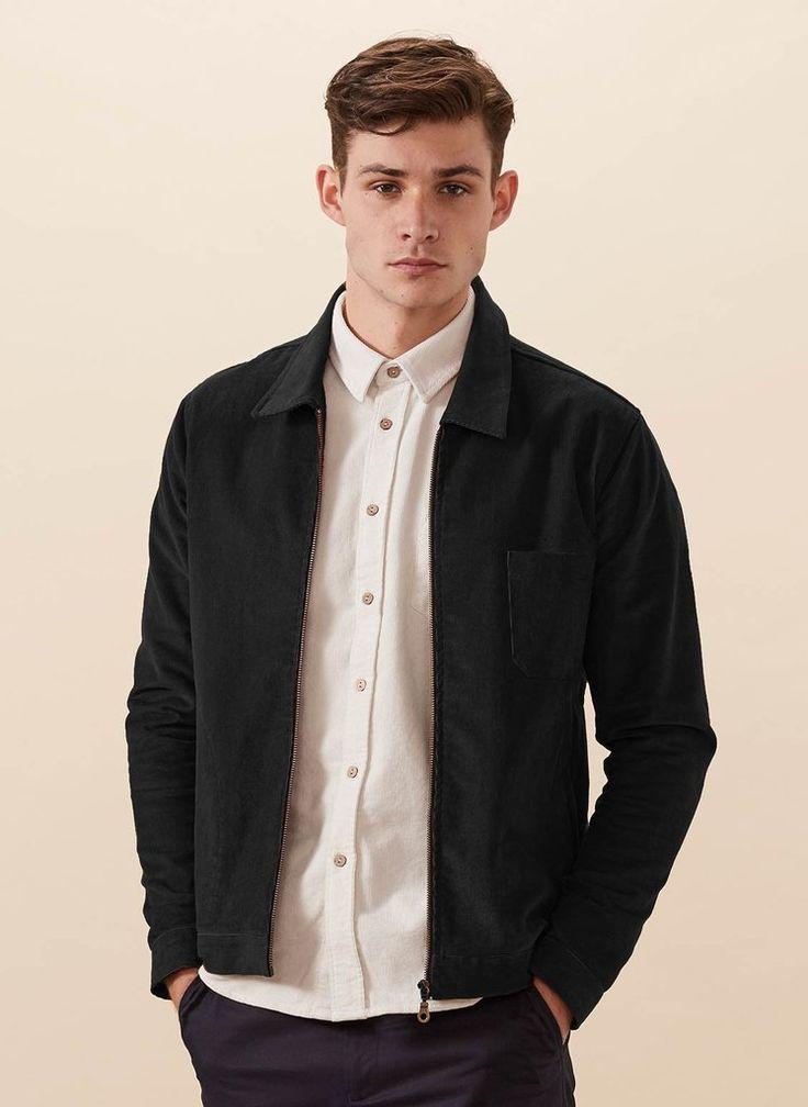 Mens Jacket   Black Corduroy Vincent