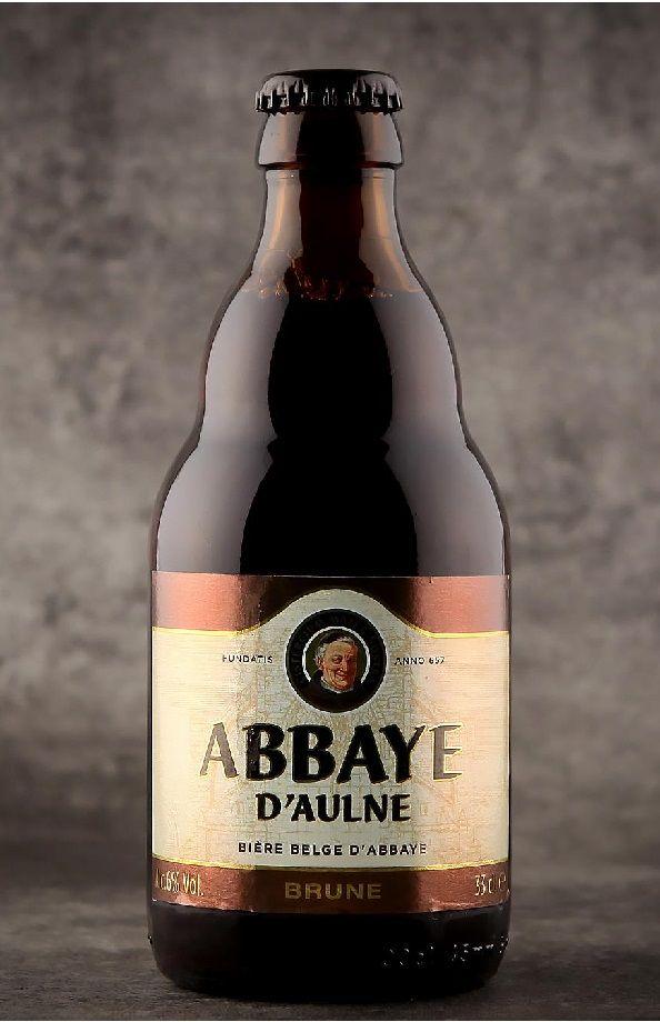 Abbaye d'Aulne Brune, Abbey Ale (segunda fermentación en botella) 6.0% AVB (Brasserie Val De Sambre, Bélgica) [abril 2016]