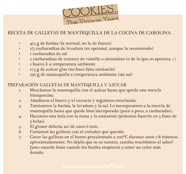 La Cocina de Carolina: La Receta Perfecta para preparar galletas para decorar (receta para galletas de mantequilla)