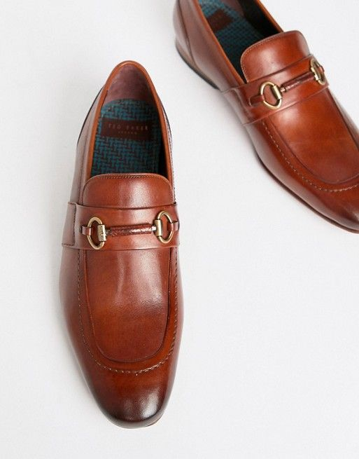 41c78ff0a Ted Baker Daiser bar loafers in tan leather