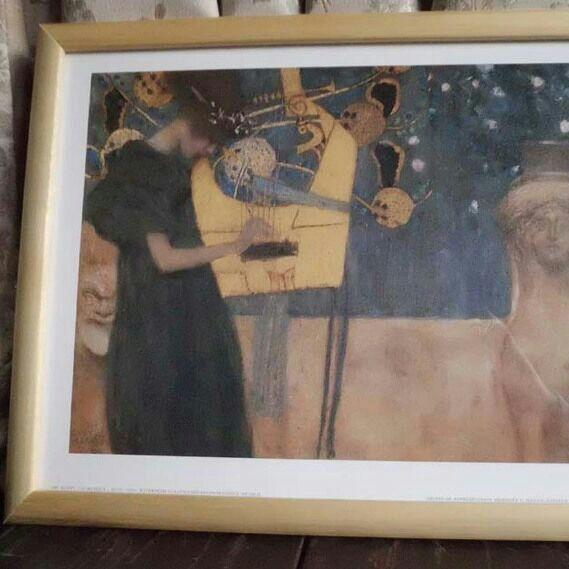 メルカリ商品: グスタフ・クリムト Music 絵画 オフセット印刷 #メルカリ