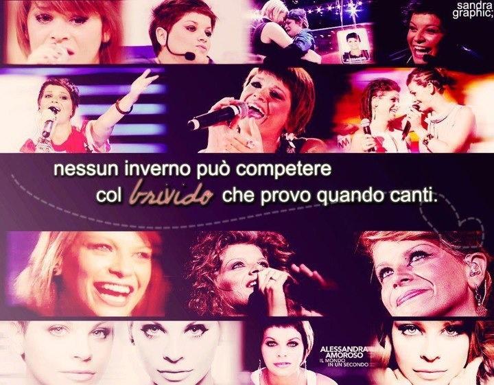 Quando tu canti io vivo❤ @Alessandra Amoroso