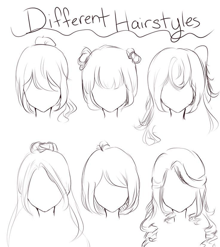 Drawings Drawinghair Hairrrr Hairrrr In 2020 Anime Drawings Sketches Anime Drawings Tutorials Hair Sketch