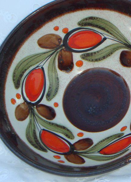Vintage Schalen - 70er,Retro,2 Schüsseln,orange,braun - ein Designerstück von oldtimes bei DaWanda