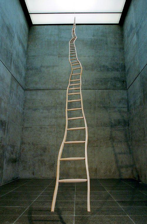 "Martin Puryear's ""Ladder for Booker T. Washington"" (1996) #art #sculpture"