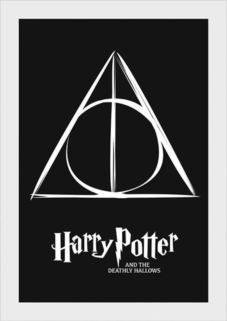 Deathly Hallows - Harry Potter - Livros | Posters Minimalistas