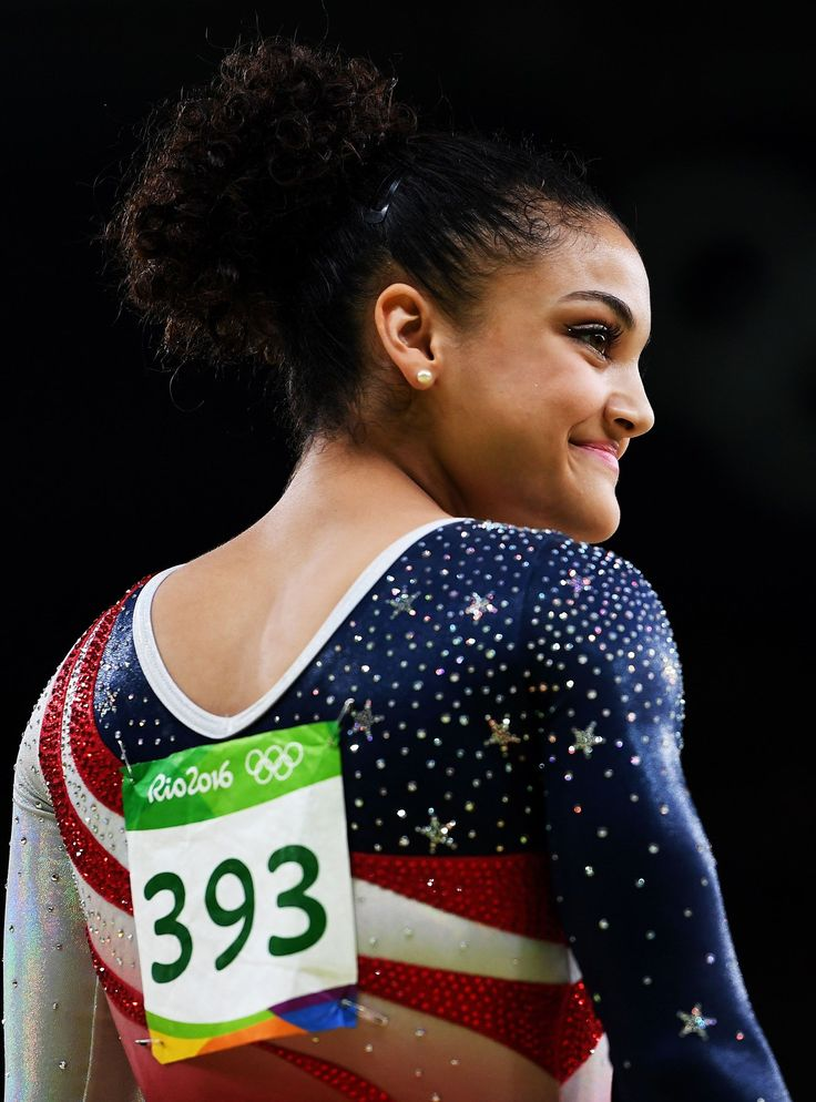 Did You Catch Laurie Hernandez Whisper A Secret Encouragement To Herself? #refinery29