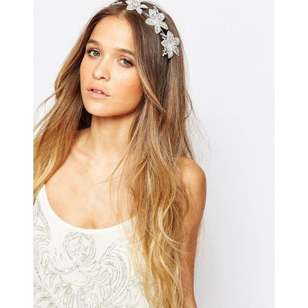 Johnny Loves Rosie Emilie Hair Piece ($41) ❤ liked on Polyvore featuring accessories, hair accessories, black, flower hair accessories and johnny loves rosie