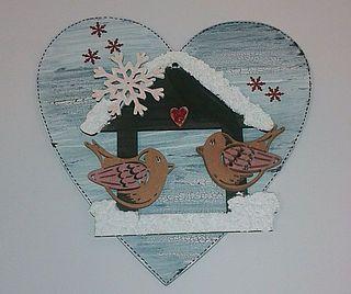 Dřevěný výřez srdce, 22 x 22 cm