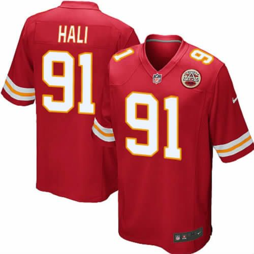 Tamba Hali Jersey Kansas City Chiefs #91 Youth Red Limited Jersey Nike NFL Jersey Sale