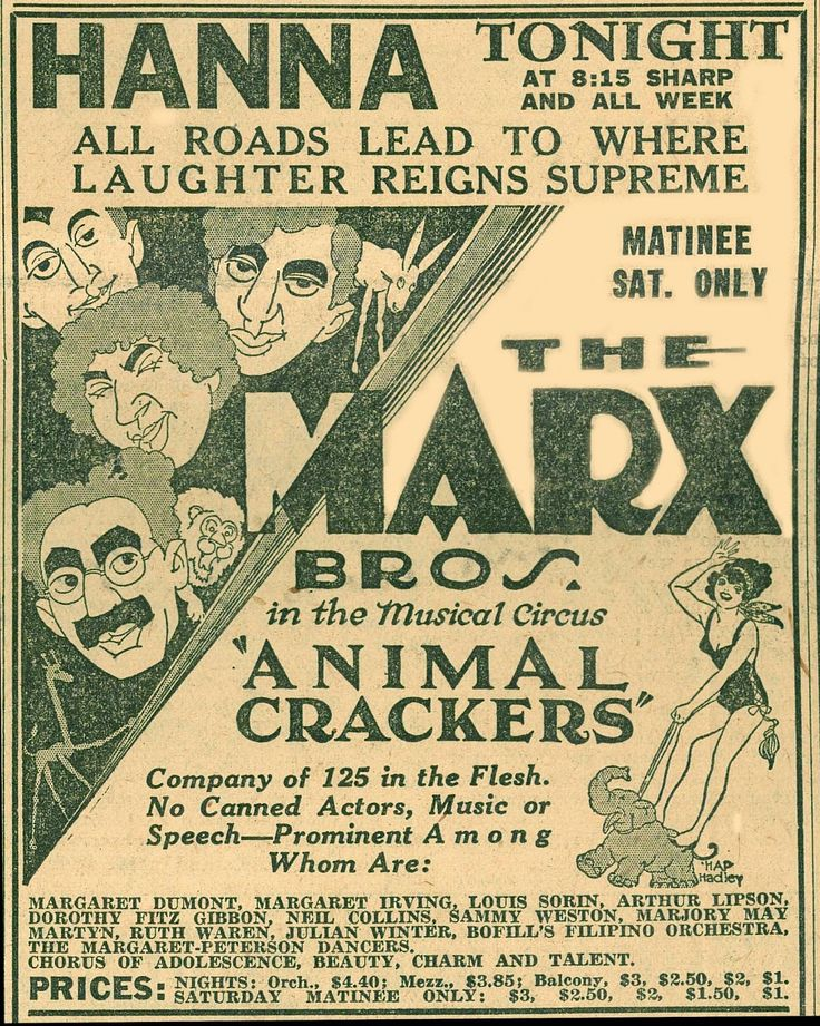 Animal Crackers movie ad