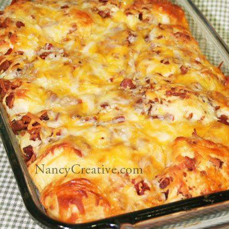 BACON-CHEESE PULL APARTS | Main Dish Recipes to try | Pinterest