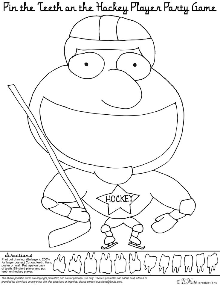 24 best Hockey Birthday Party images on Pinterest Hockey party - new coloring page of a hockey player