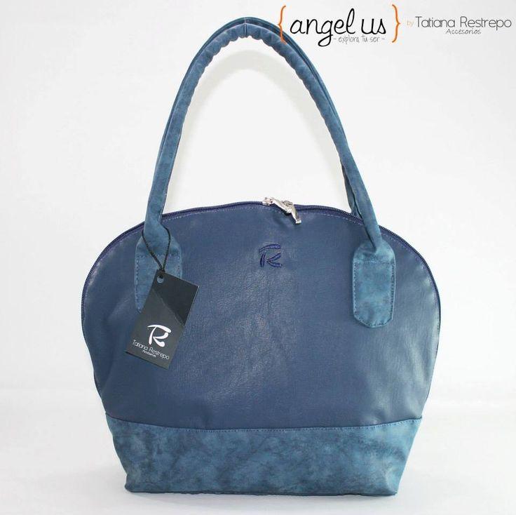 Bolso azul para mujer Colección Angelus by Tatiana Restrepo Accesorios
