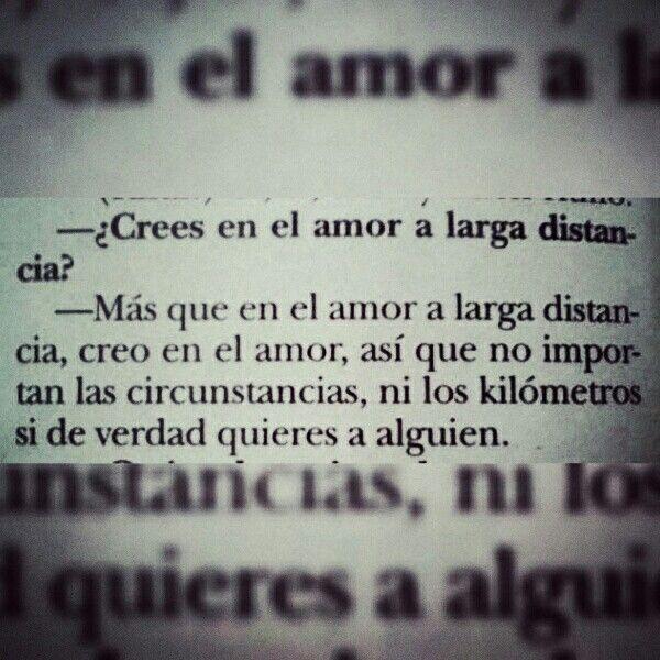"""""""Amor a distancia""""                                                                                                                                                     Más"""
