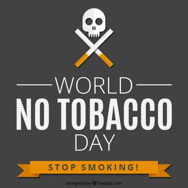 World no tobacco day background Free Vector