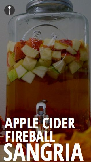 How to make a festive sangria with apple cider and fireball whiskey.