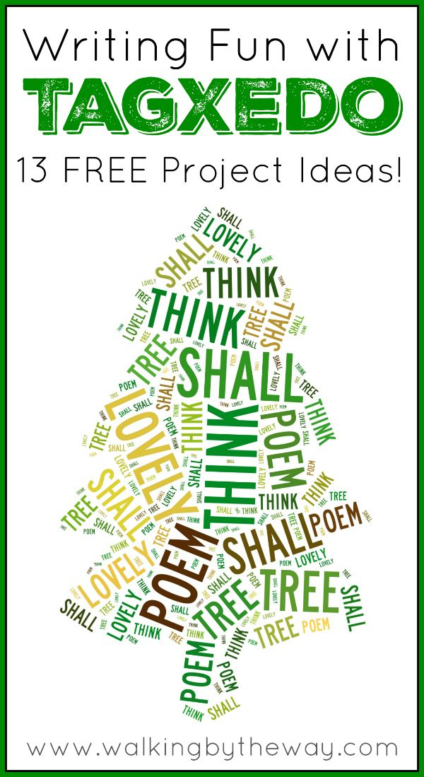 Writing Fun with Tagxedo Tutorial + 13 Project Ideas from Walking by the Way