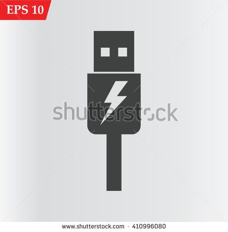 usb cable Icon.Charger vector icon