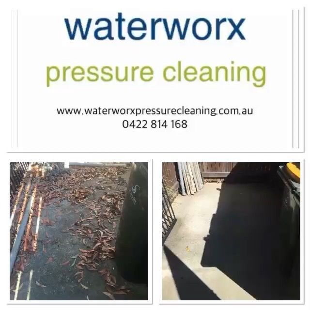 A few before and after shots of work by Waterworx Pressure Cleaning. Car park cleaning, timber deck cleaning, house washing, concrete cleaning, driveway cleaning and much more