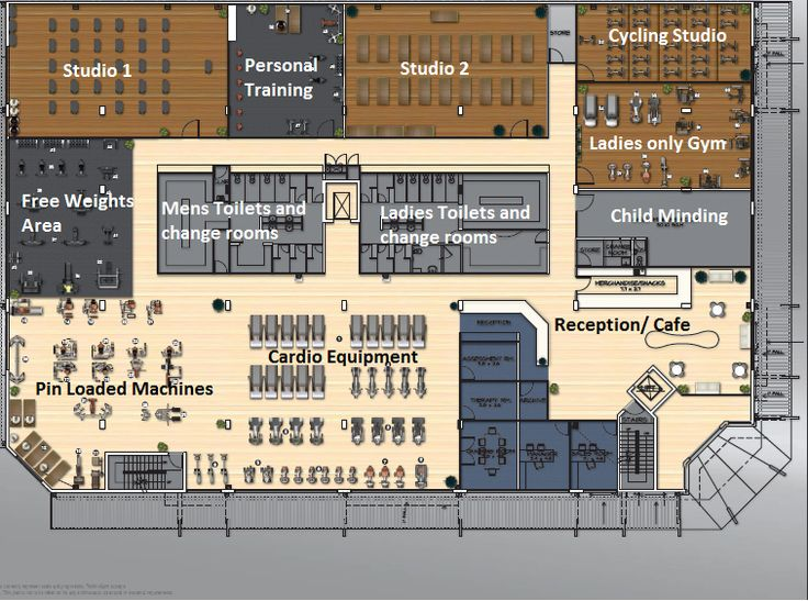 Work out gym floor plan google search hospitality for Gym floor design