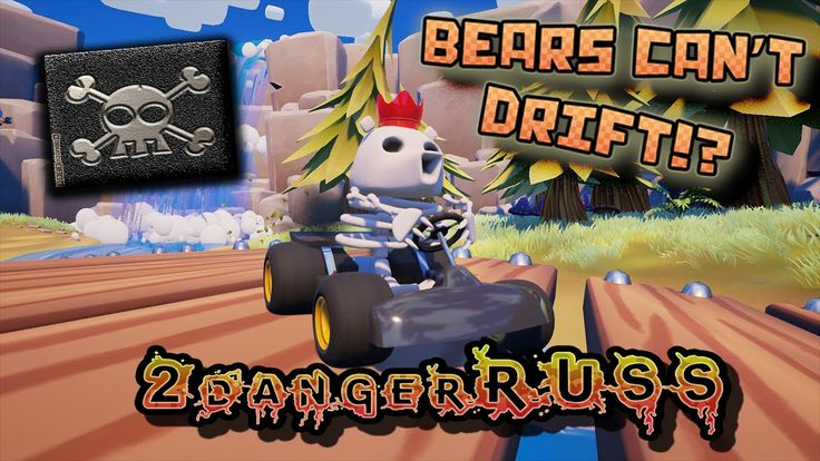 Mario kart, with less Mario & more bear.