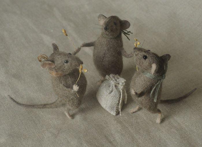 stuffed mice: harvest