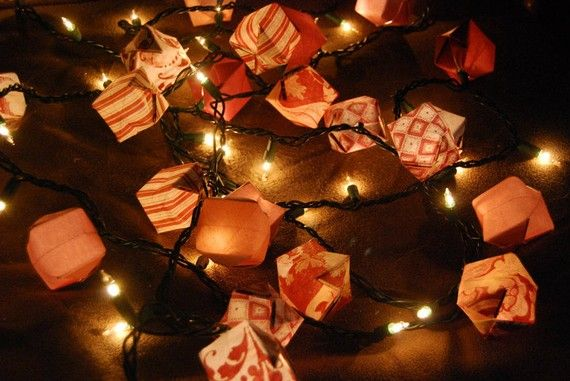 Be My Valentine Red Origami Box Lights by SimpleFolds on Etsy, $18.00