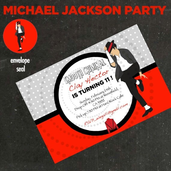 Michael Jackson invitation idea