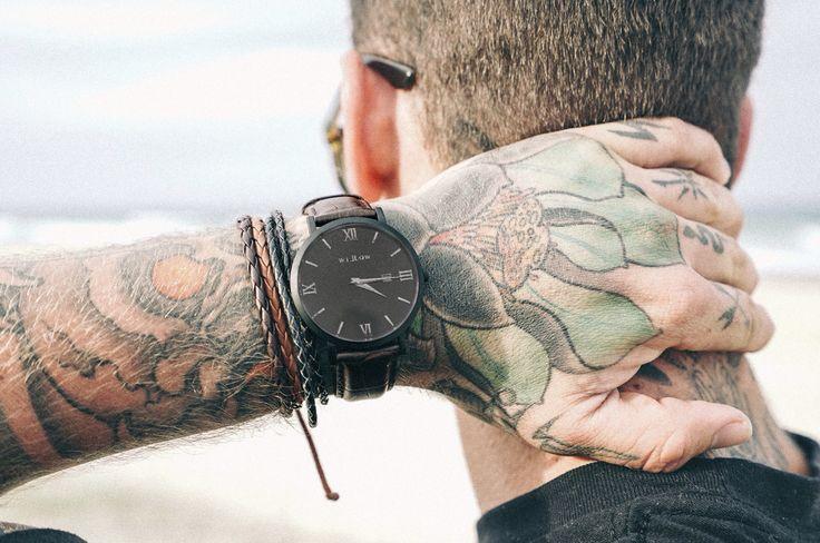 Verona Dark Brown Croco Watch