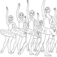 Dibujo para colorear cuerpo de Ballet formado por bailarinas - Dibujos para Colorear y Pintar - Dibujos para colorear DEPORTES - Dibujos de DANZA BALLET para colorear - Dibujos de BAILARINAS para colorear