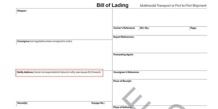 Printable Sample Blank Bill Of Lading Form
