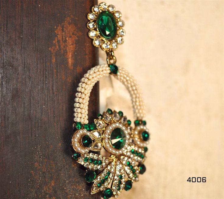 Exotic Beeds with Green Stones
