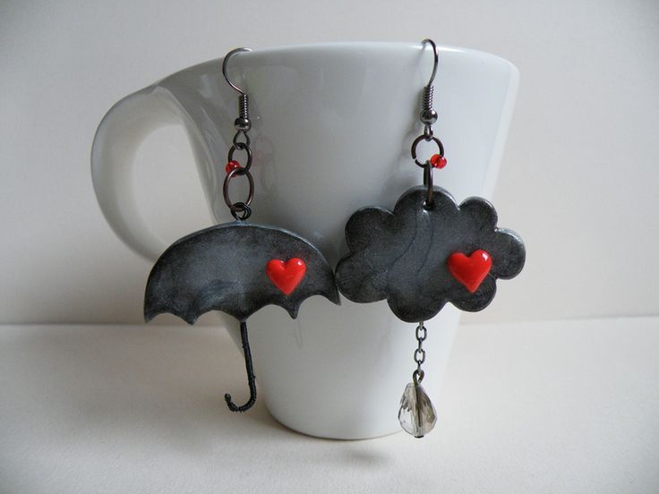 Earrings by MARIJA VIDANOVIĆ | Polymer Clay Planet: