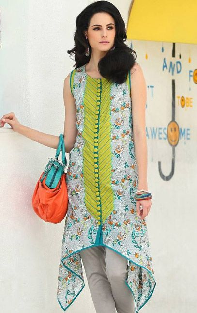Buy Printed Cotton Lawn Kurti Komal Summer Lawn 2015 Collection By LSM.