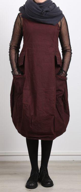 rundholz black label - Kleid mit Schößchen Leinen Stretch lava - Winter 2017